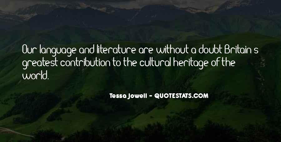 Sayings About World Heritage #1359621