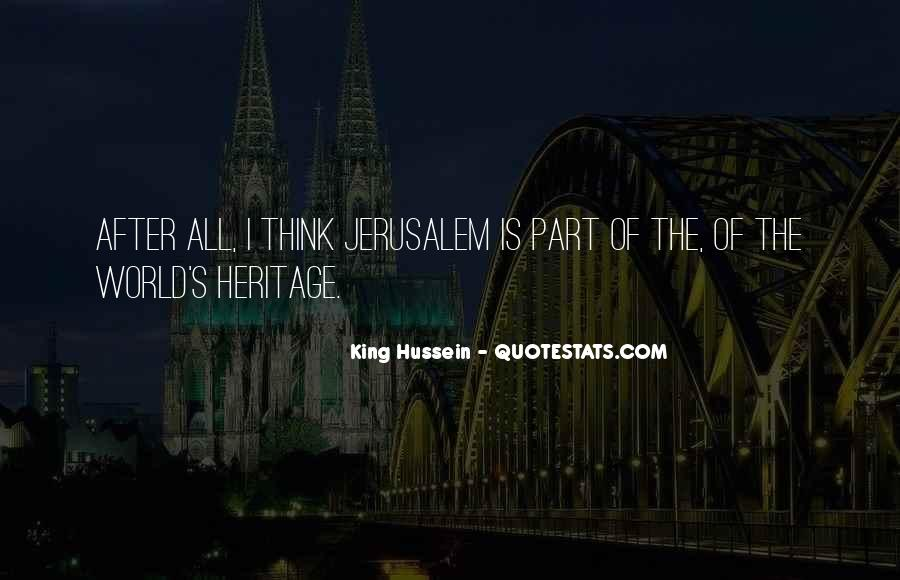 Sayings About World Heritage #154199
