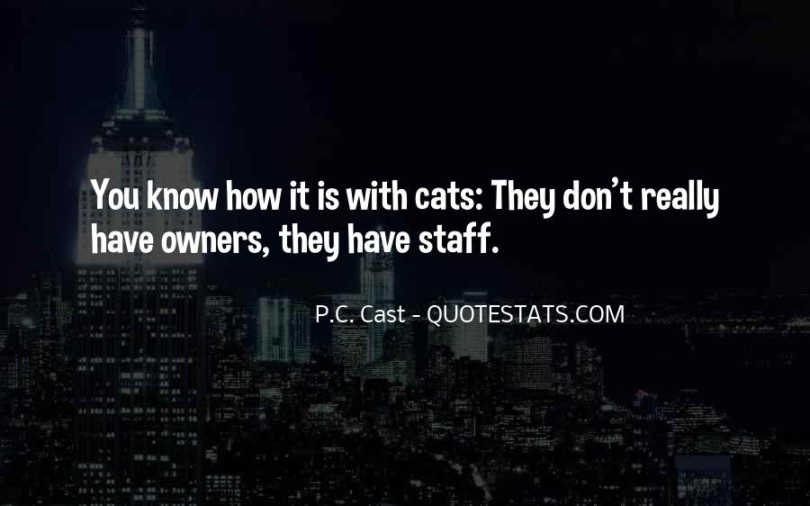Sayings About Cats And Owners #10205
