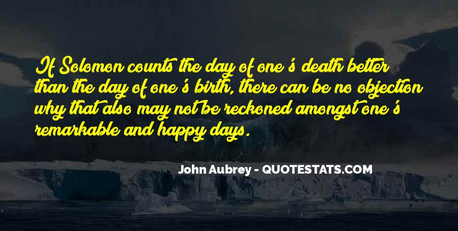 Sayings About Days Of Birth #28959