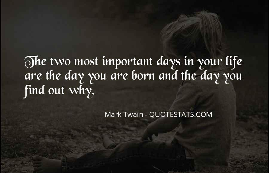 Sayings About Days Of Birth #45380