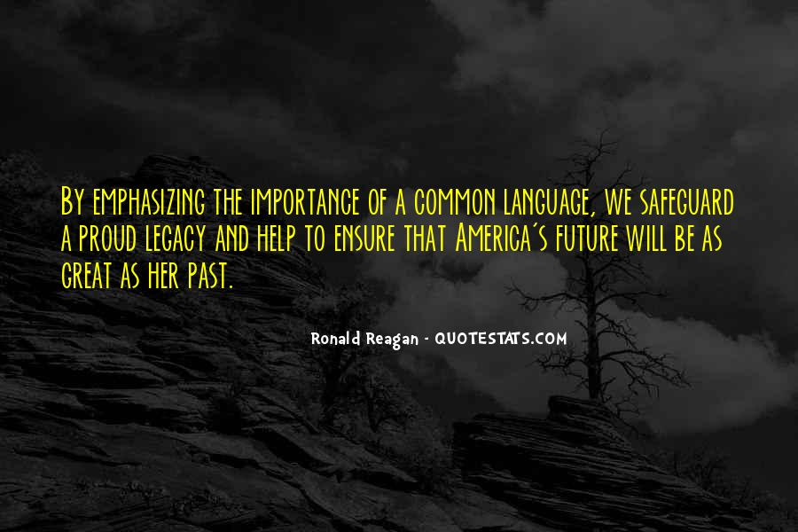 Sayings About Importance Of Language #1022056