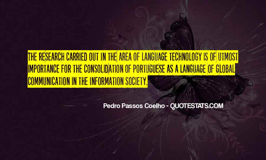 Sayings About Importance Of Language #1130990