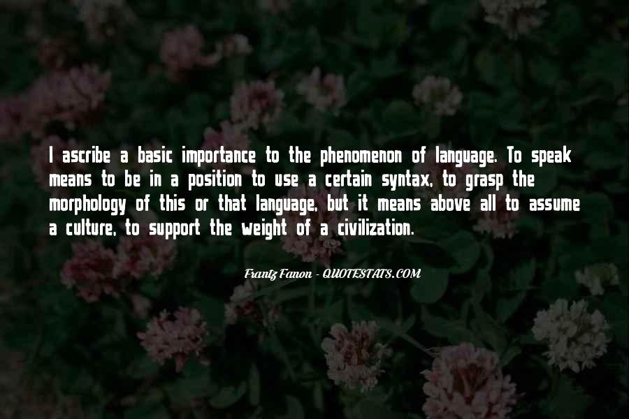 Sayings About Importance Of Language #152877