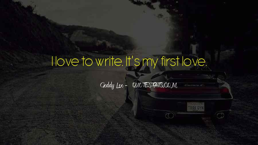 Sayings About My First Love #163661