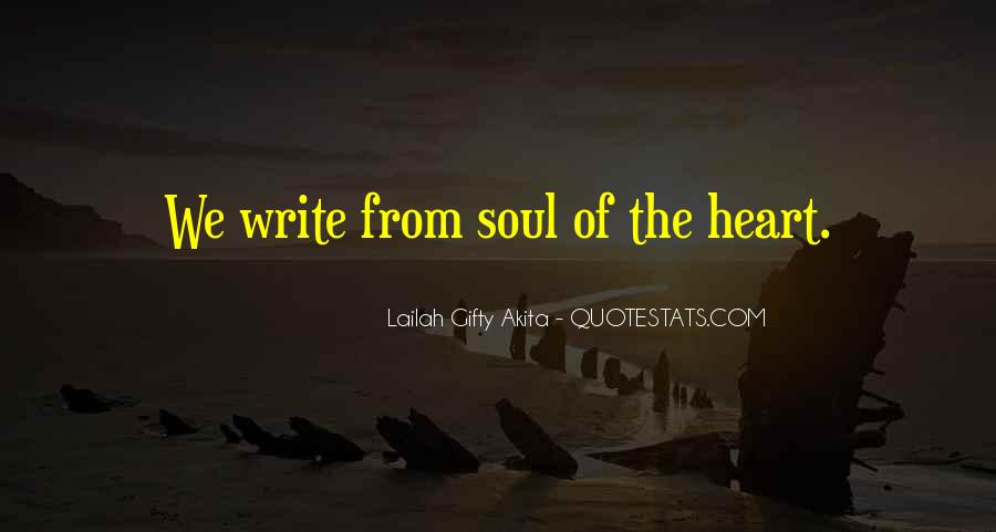 Sayings About Soul And Heart #66990