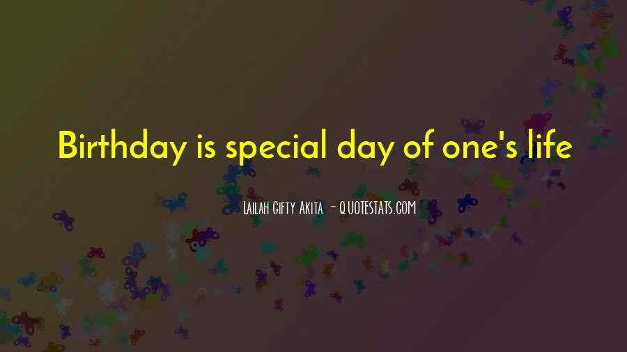 Sayings About Special Day #369173
