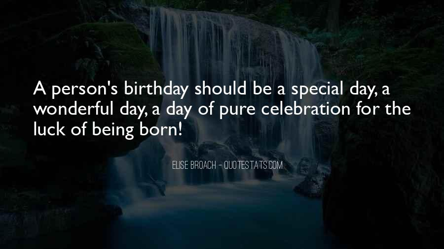 Sayings About Special Day #705710