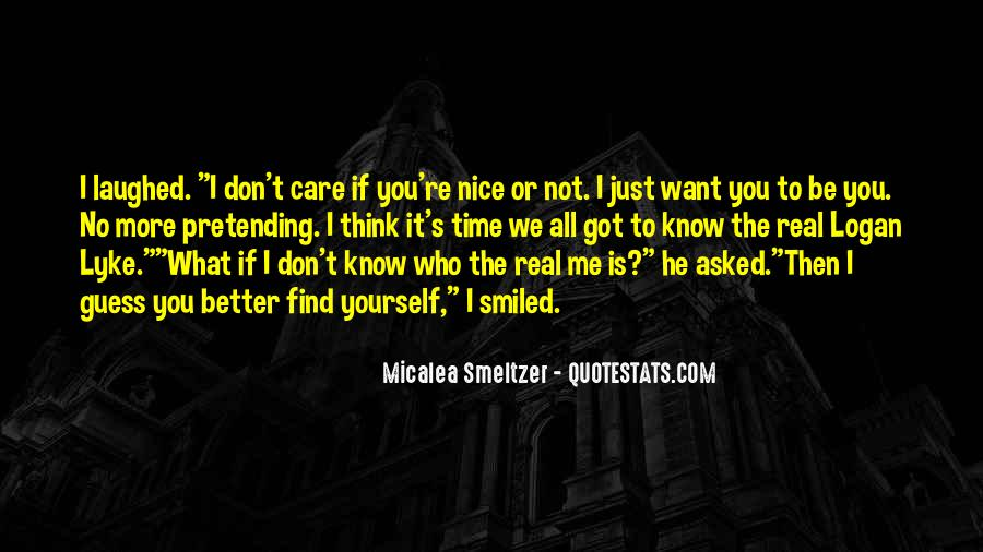 Quotes About Pretending #82476