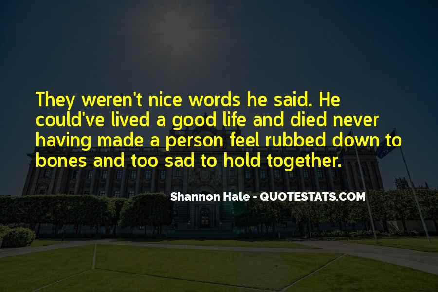 Sayings About A Sad Life #433134
