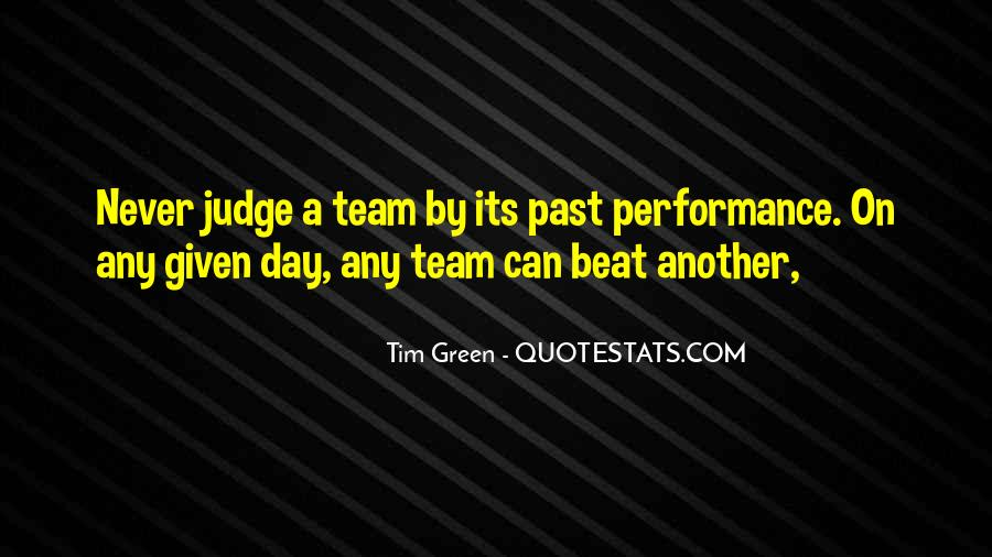 Quotes About Green Team #418839
