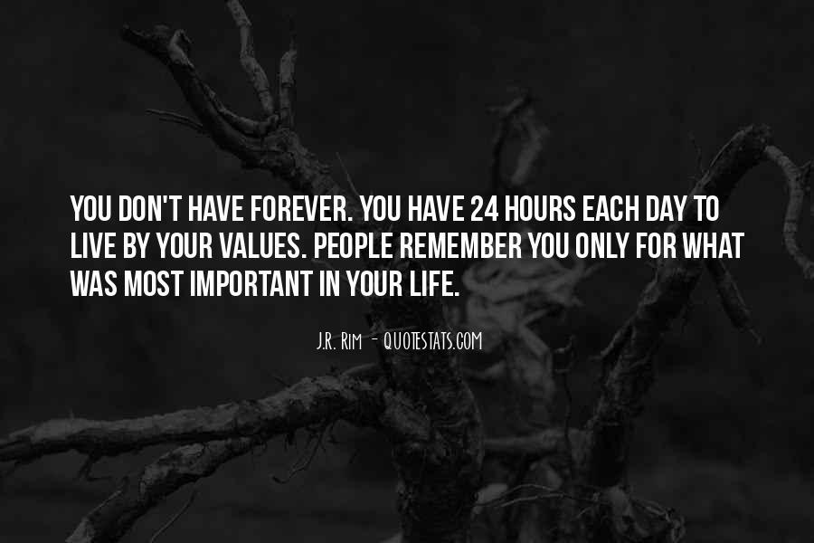 Life Values Sayings #261828