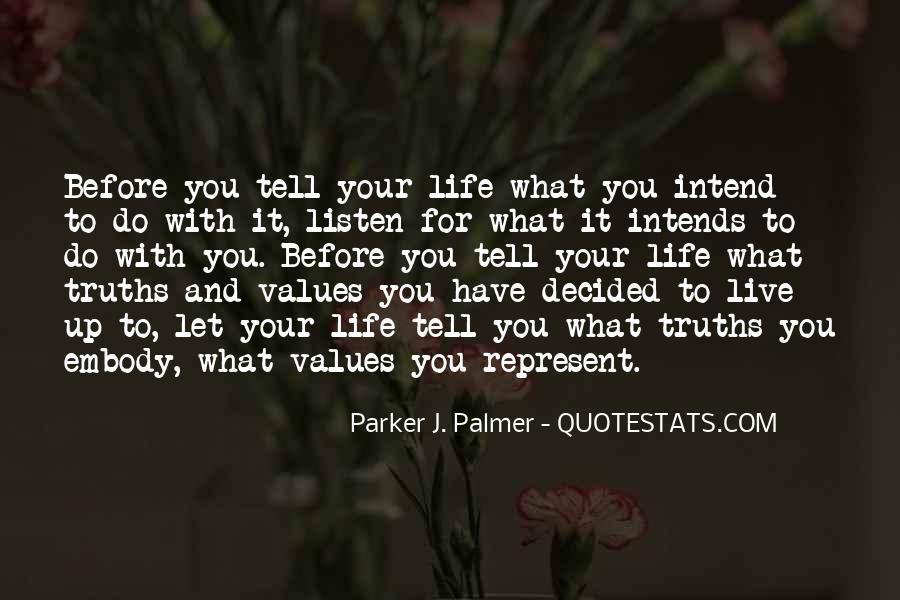 Life Values Sayings #69056