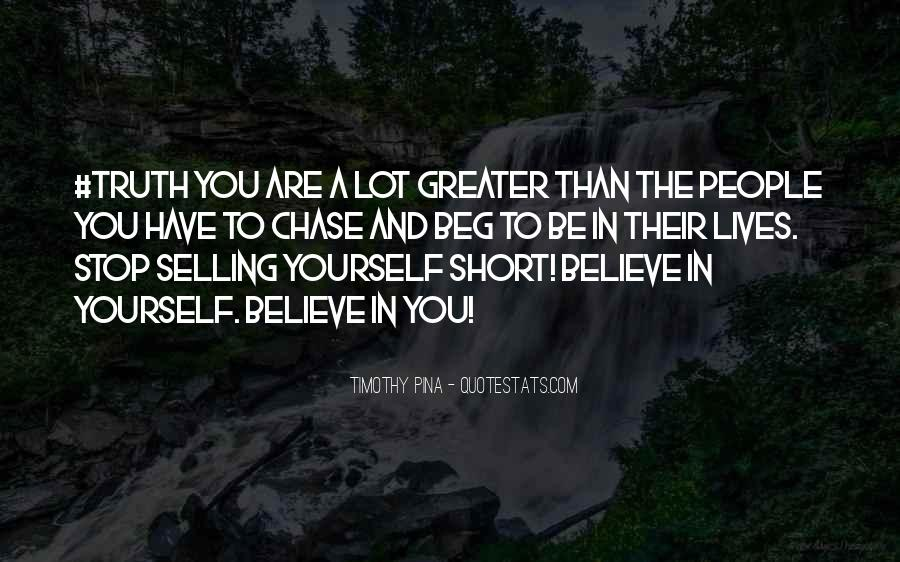 Short Believe Sayings #1322207