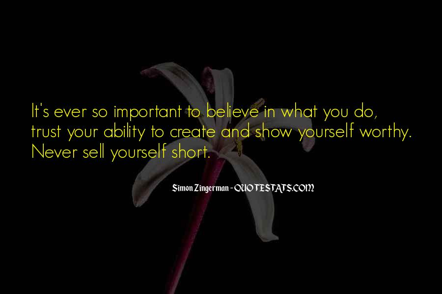 Short Believe Sayings #365382