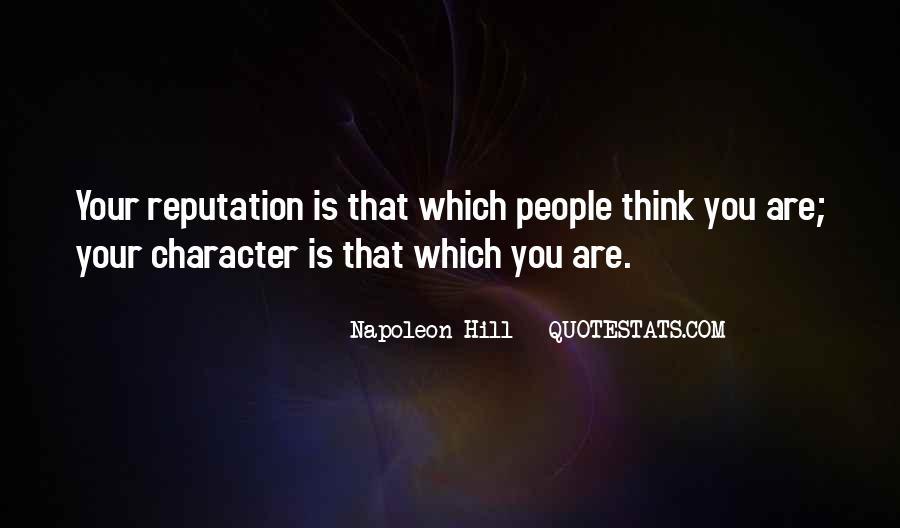 Character Reputation Sayings #1421461
