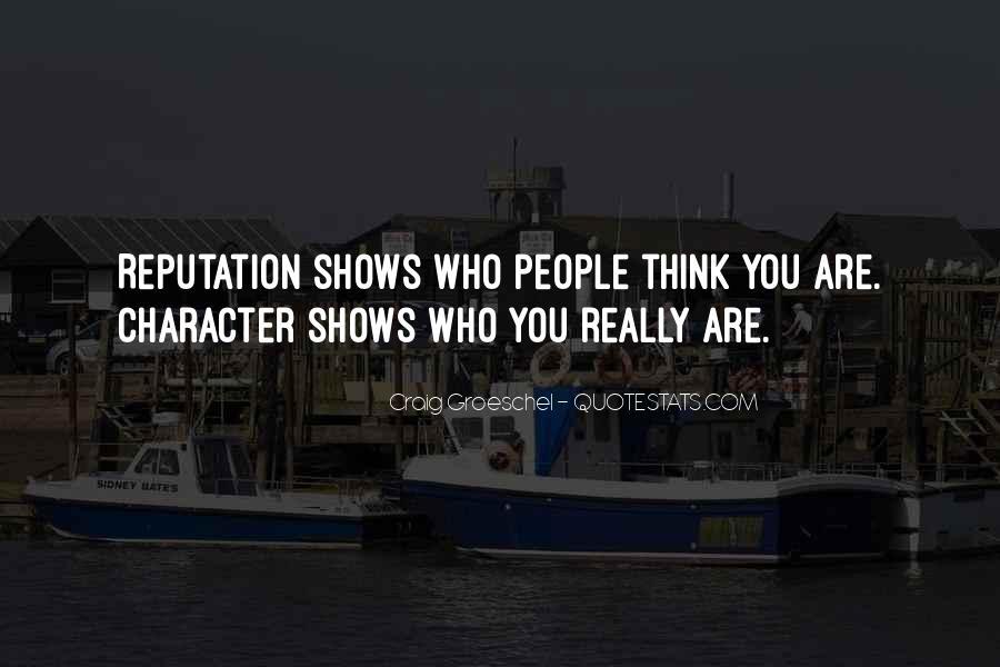 Character Reputation Sayings #26863