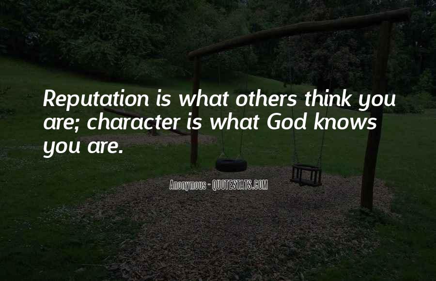 Character Reputation Sayings #285601
