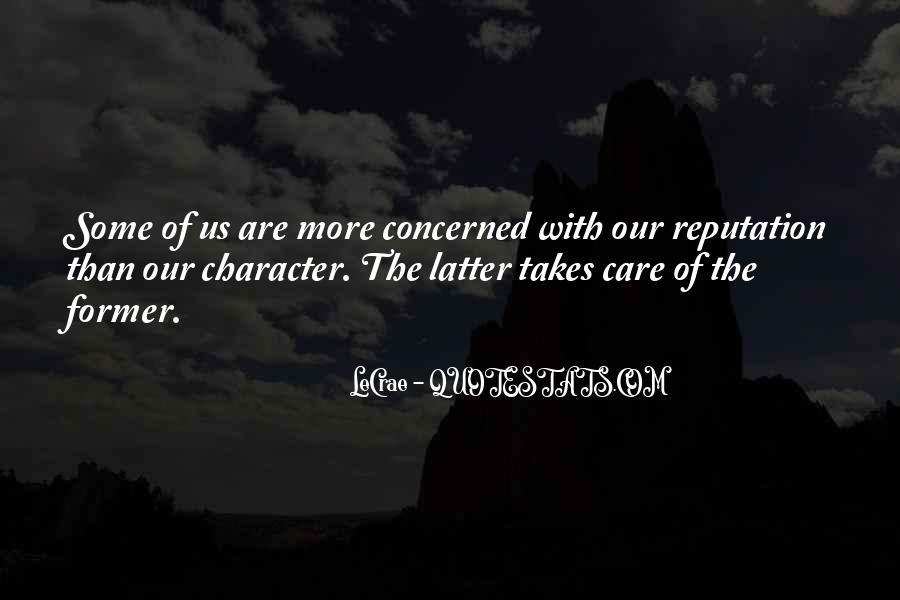 Character Reputation Sayings #716881