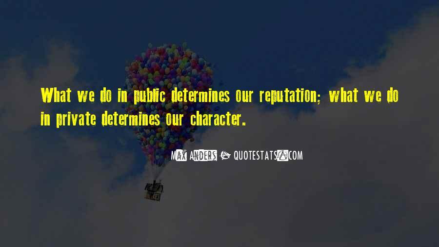 Character Reputation Sayings #897768