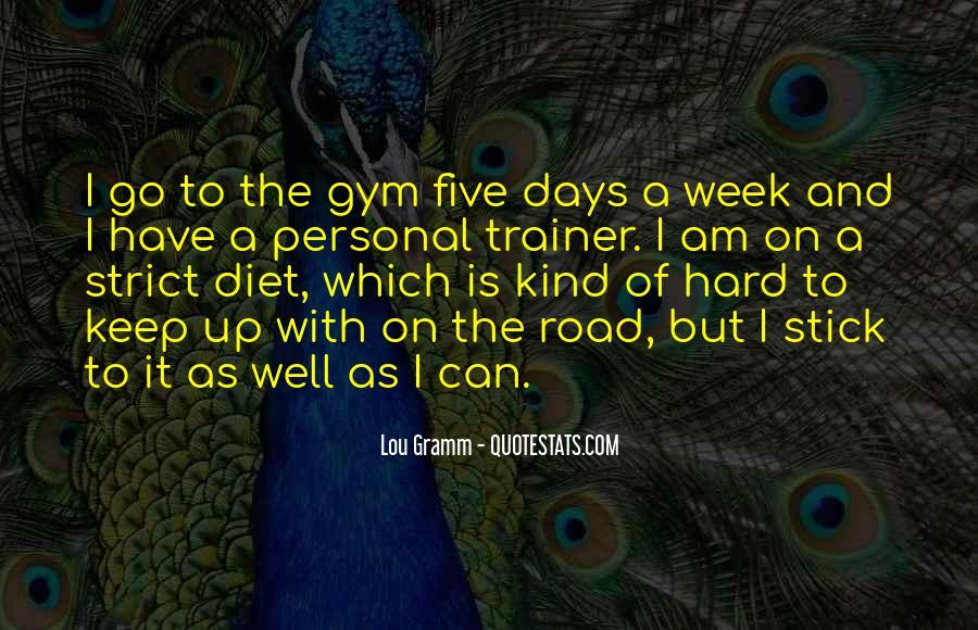Gym Diet Sayings #52753