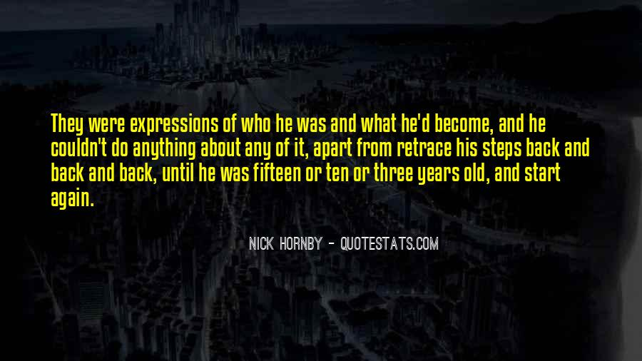 Quotes About Fifteen Years Old #95511