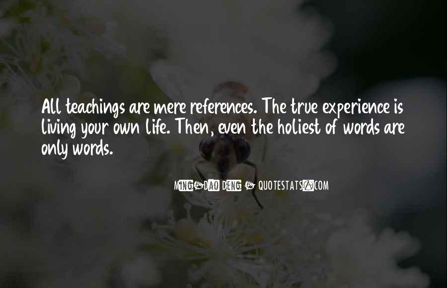Life Teaching Sayings #216279