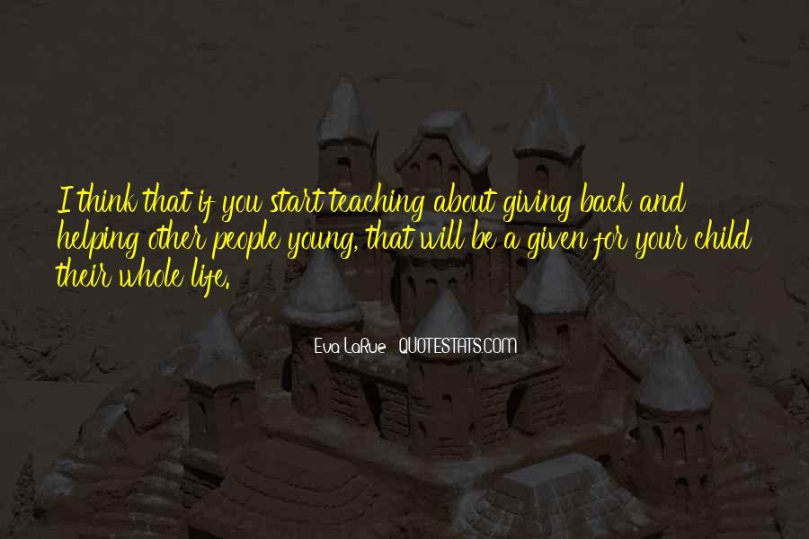 Life Teaching Sayings #274266