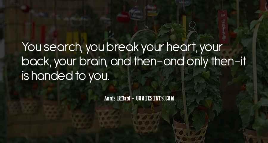 Quotes About Heart Over Brain #66654
