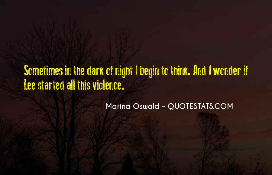 Quotes About Violence In Night #68181