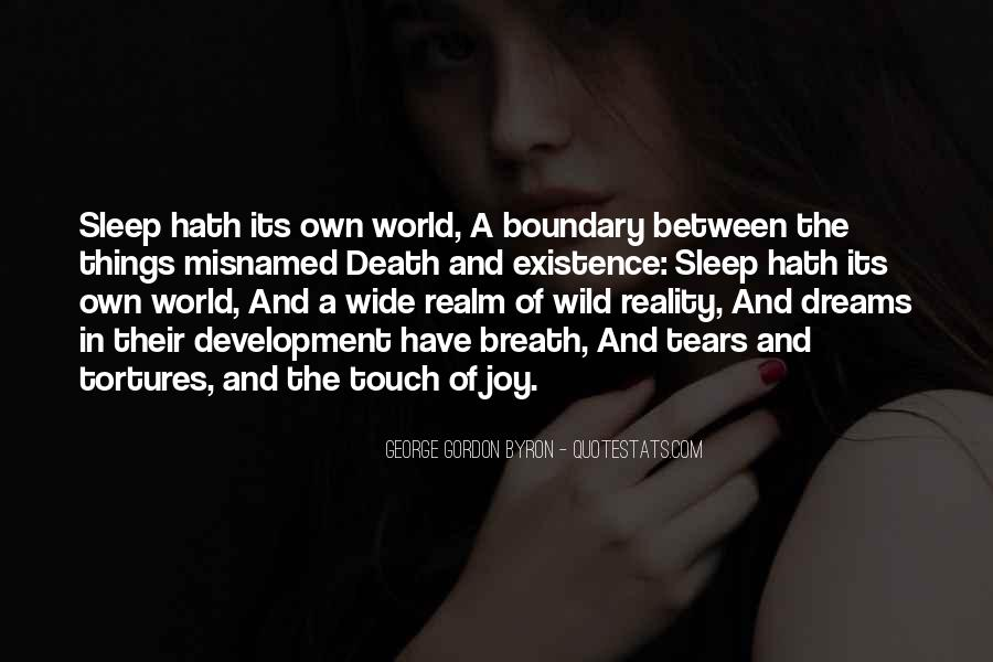 Quotes About Dreams And Reality #57277