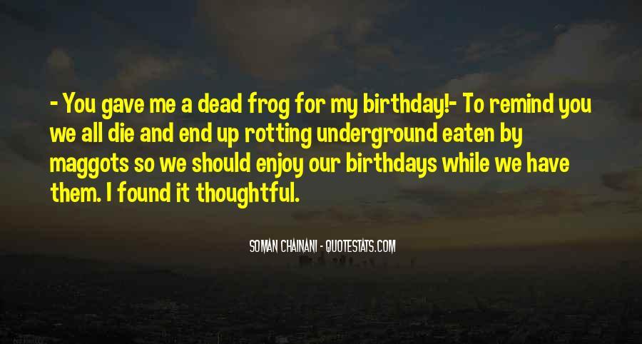 Birthday Frog Sayings