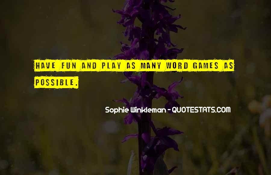 Word Games Sayings #1844006