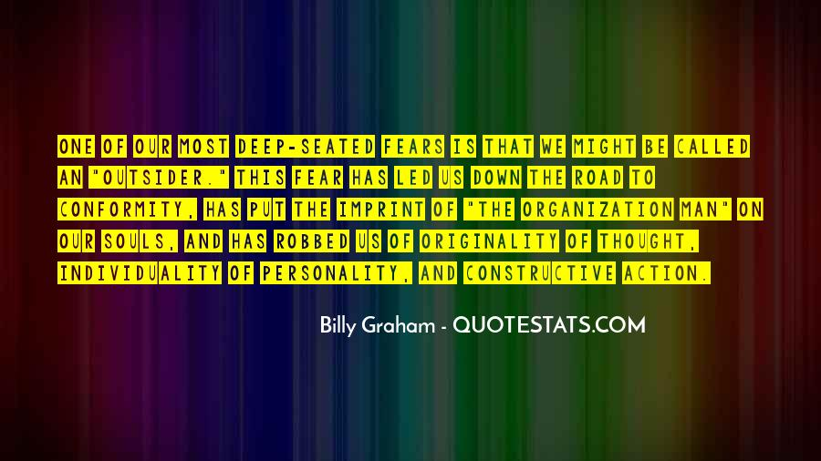Quotes About Individuality Vs. Conformity #184672