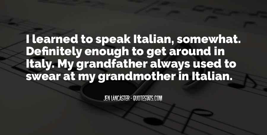 Italian Grandmother Sayings #1050198