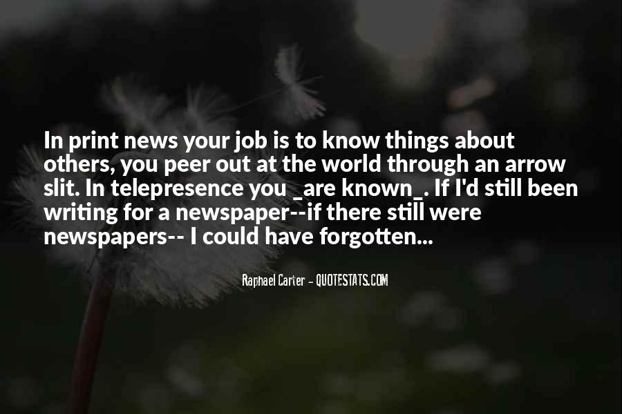 Quotes About Newspaper Writing #1370496