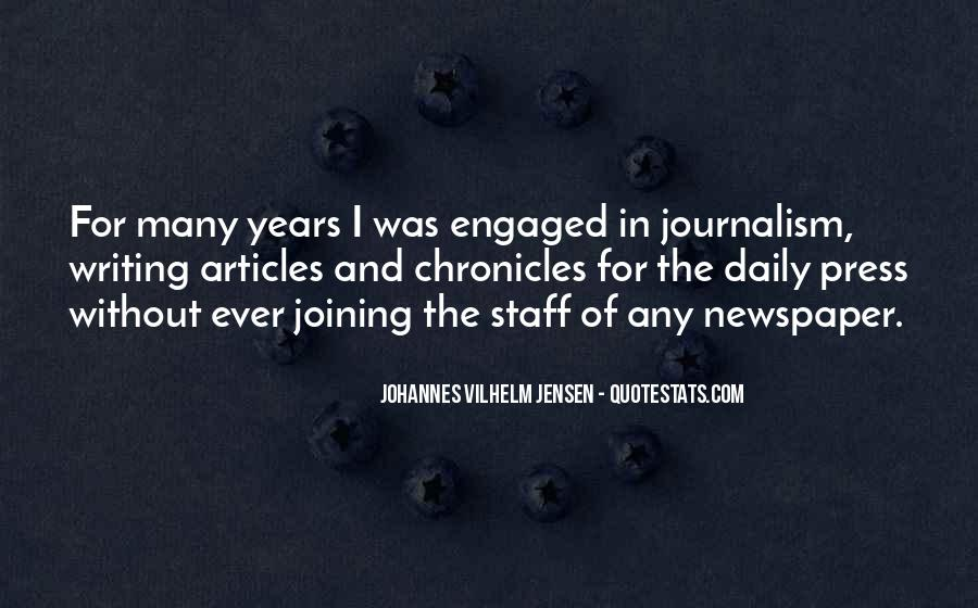 Quotes About Newspaper Writing #1373790