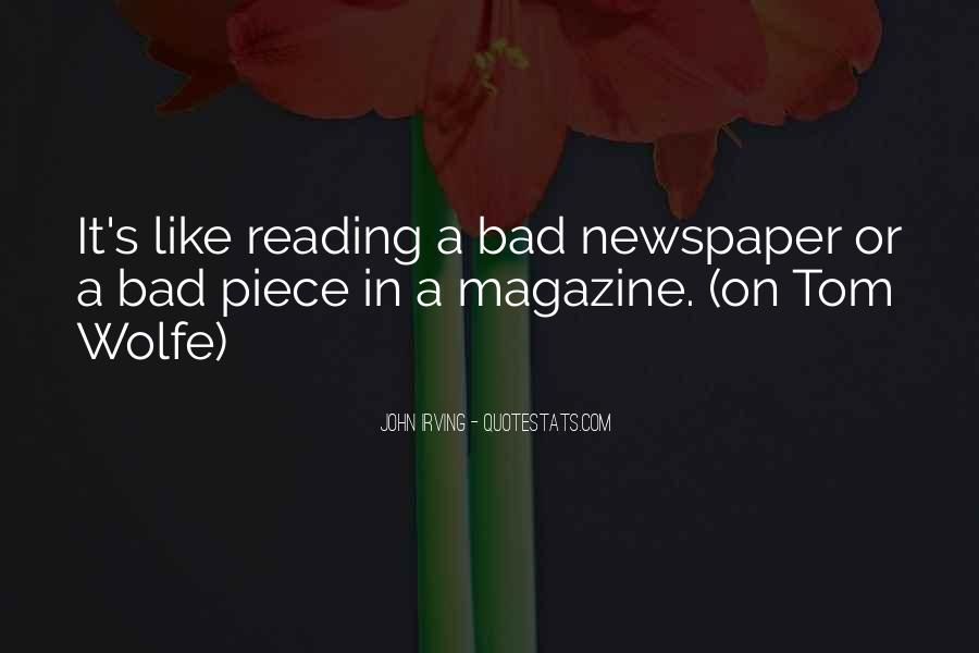 Quotes About Newspaper Writing #1752802