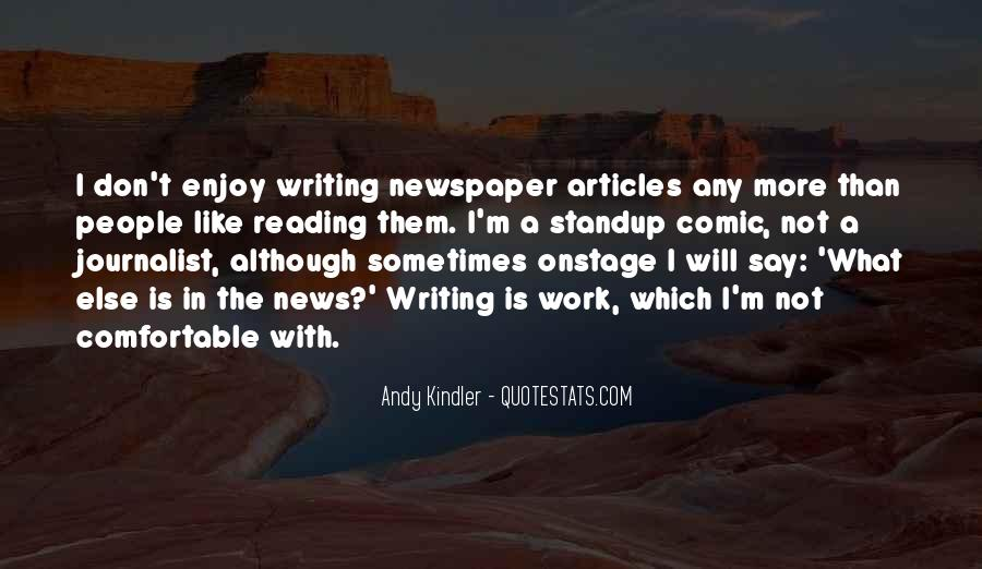Quotes About Newspaper Writing #222684