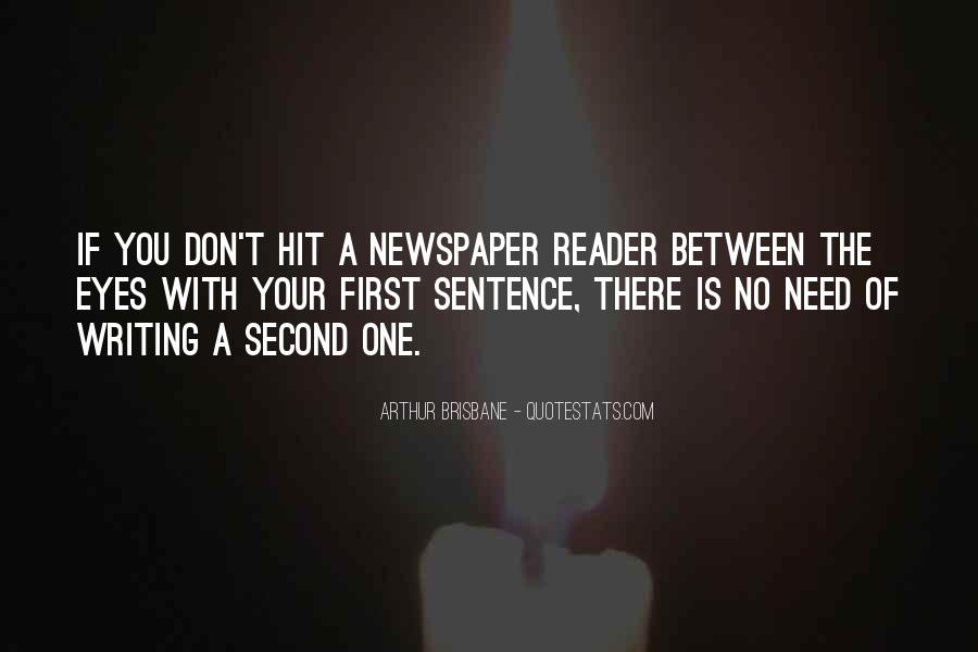 Quotes About Newspaper Writing #522850