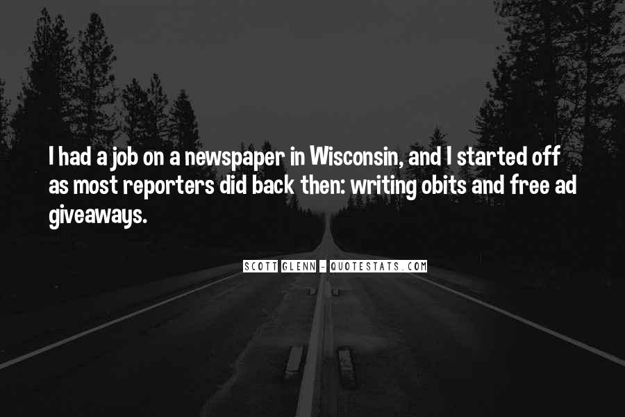 Quotes About Newspaper Writing #779430