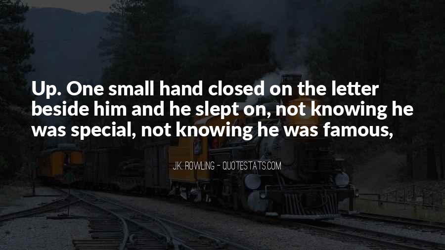 Famous Hand Sayings #206416