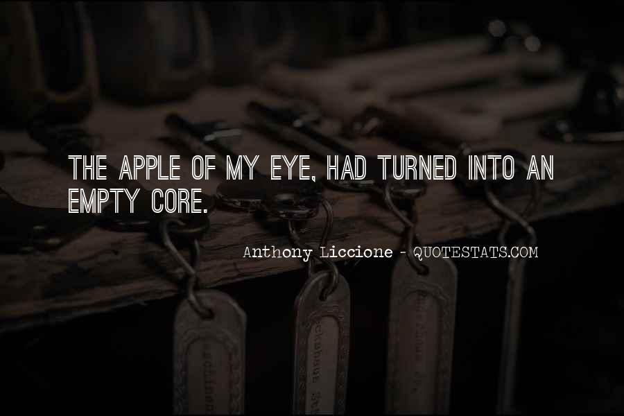 Apple Of Her Eye Sayings #741876