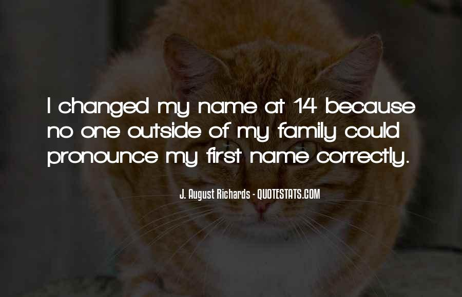 Quotes About First Name #46028