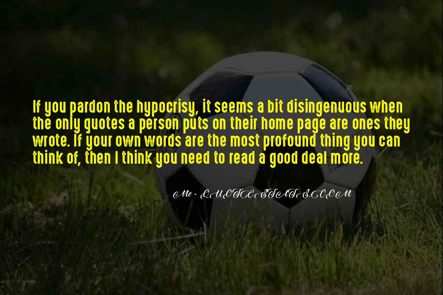 Hypocrisy Quotes And Sayings #781219