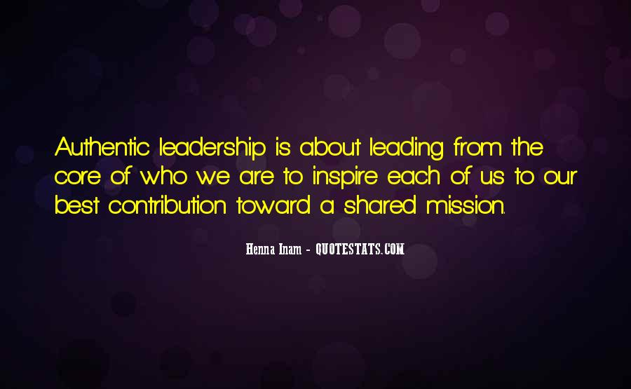 Quotes About Shared Leadership #693884