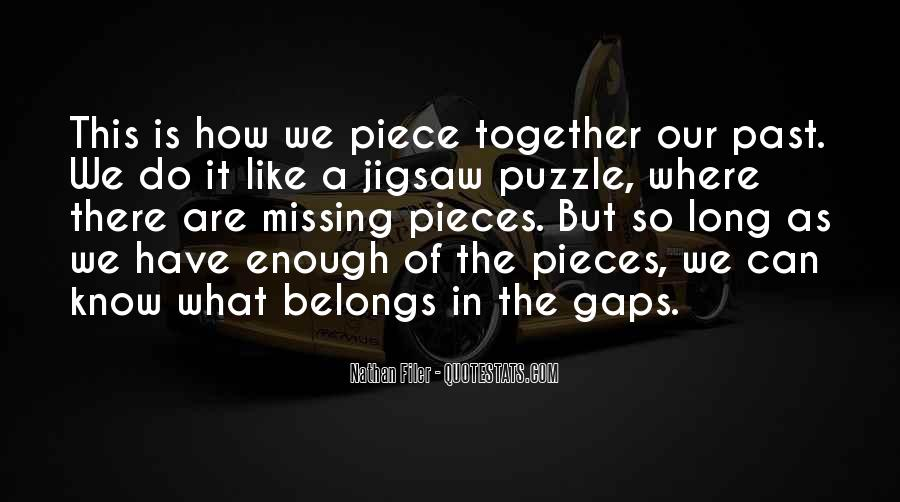 Jigsaw Piece Sayings #254563