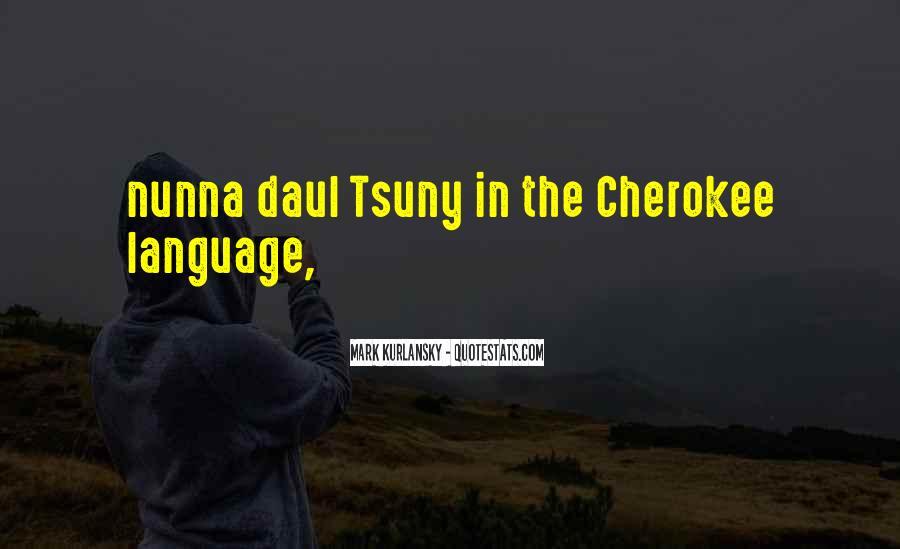 Cherokee Language Sayings