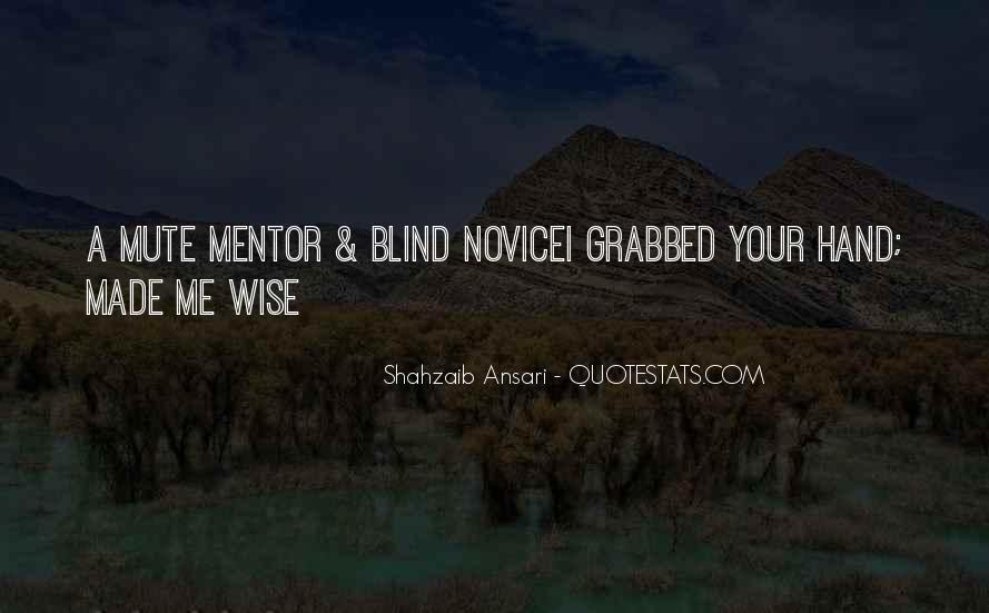 Wise Mentor Sayings #1731628