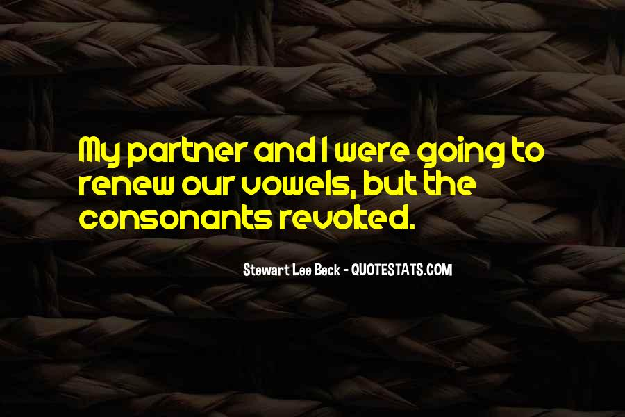 Partner Quotes And Sayings #1715892